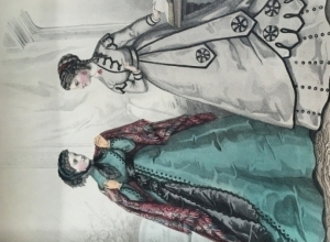 Fashion plate from Le Bon Ton: Journal de Modes (Good Manners: Journal of Fashion)