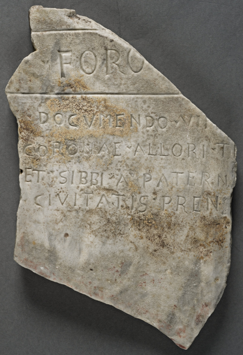 Fragment of an inscription related to a soldier
