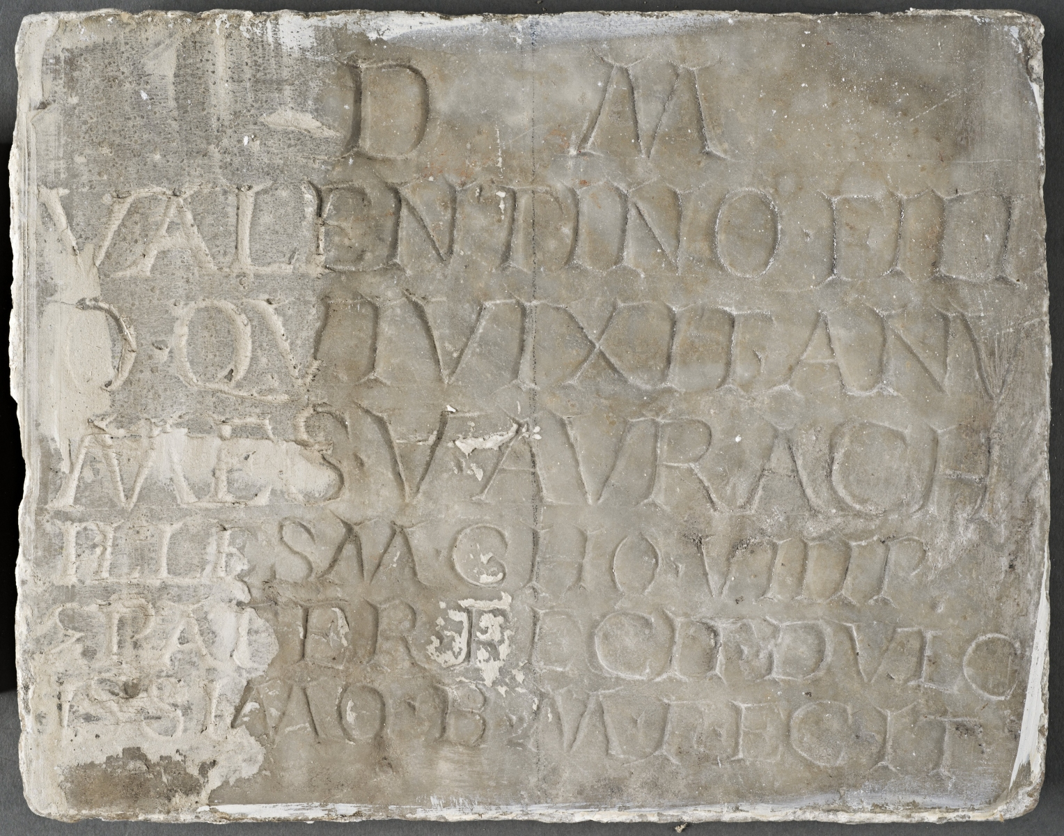 Plaque from a tomb erected by the soldier Aurelius Achilles