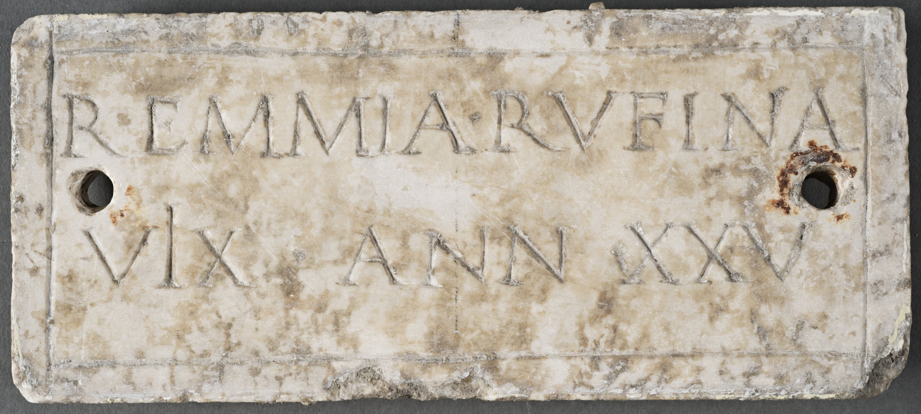 Funeral plaque for Remmia Rufina