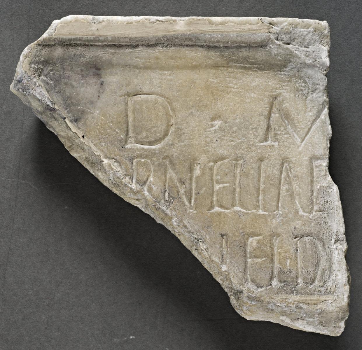 Fragmentary plaque from the tomb of Cornelia
