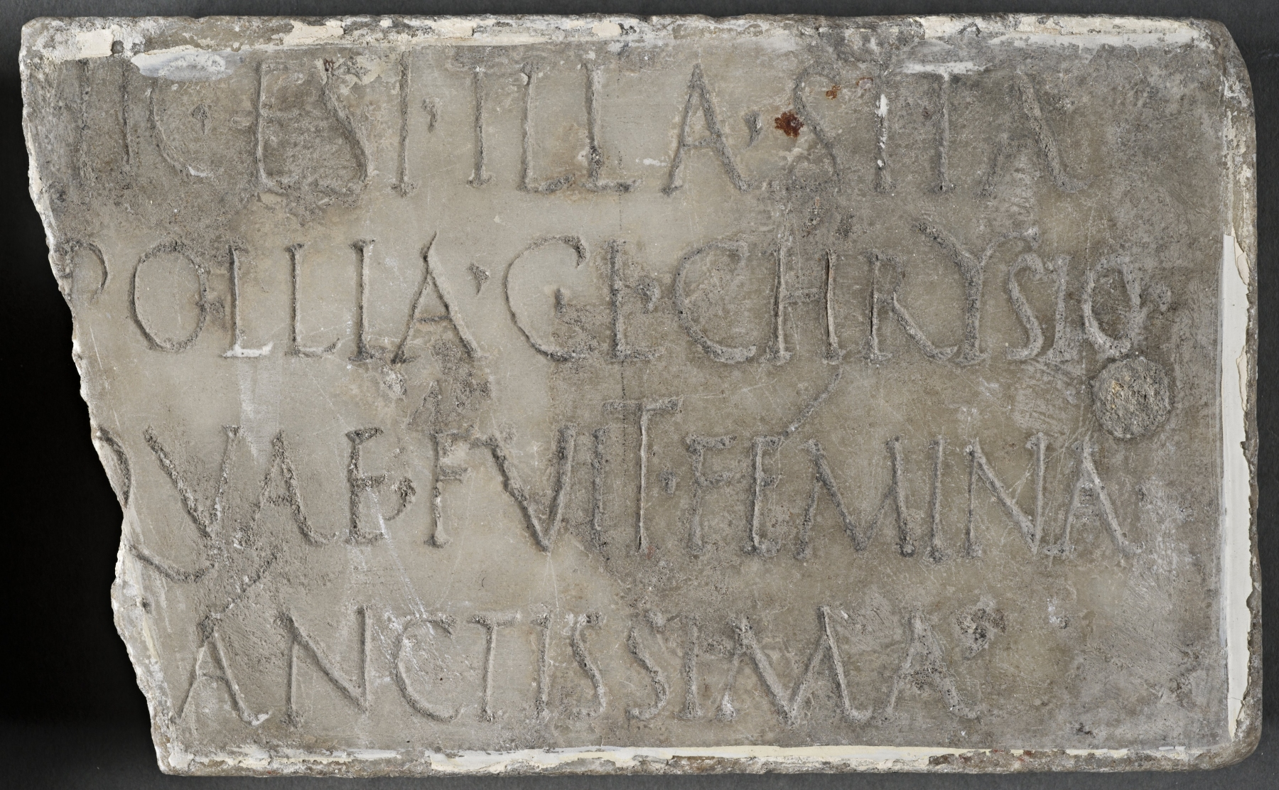 Plaque from the tomb of Pollia Chrysio