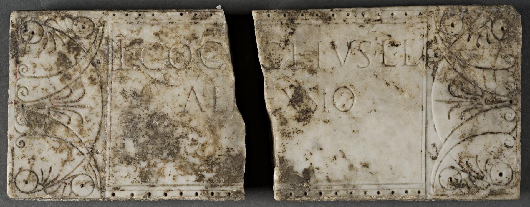 Columbarium plaque for Lucius Cocceius Alexsio
