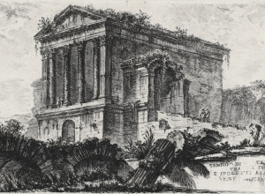 Temple of Clitumnus between Foligno and Spoleto