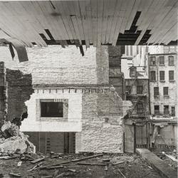 "View through the rear wall, 89 Beekman Street, from ""The Destruction of Lower Manhattan"""