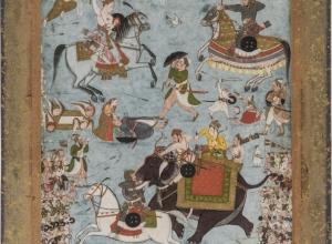 Nat (Sindhu) Ragini, Battle Scene, part of a Ragamala series