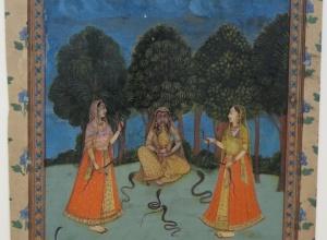 Asavari Ragini, Women Charming Snakes, from a Ragamala series