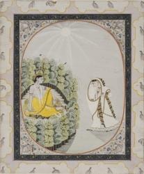 Moonlight Tryst: Radha and Krishna