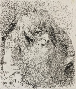 Old Man with a Beard and Long Hair from Raccolta di Teste (The Series of Heads)