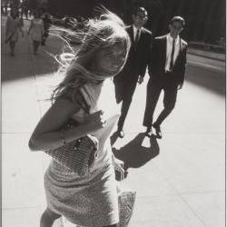 Hurrying Young Woman