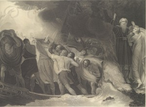 The Enchanted Island, Before the Cell of Prospero, Act I, Scene I, The Tempest