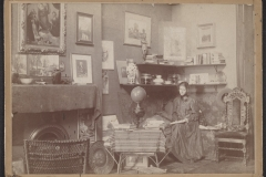 Violet Oakley in her Studio at 1523 Chestnut St., Philadelphia, before 1898