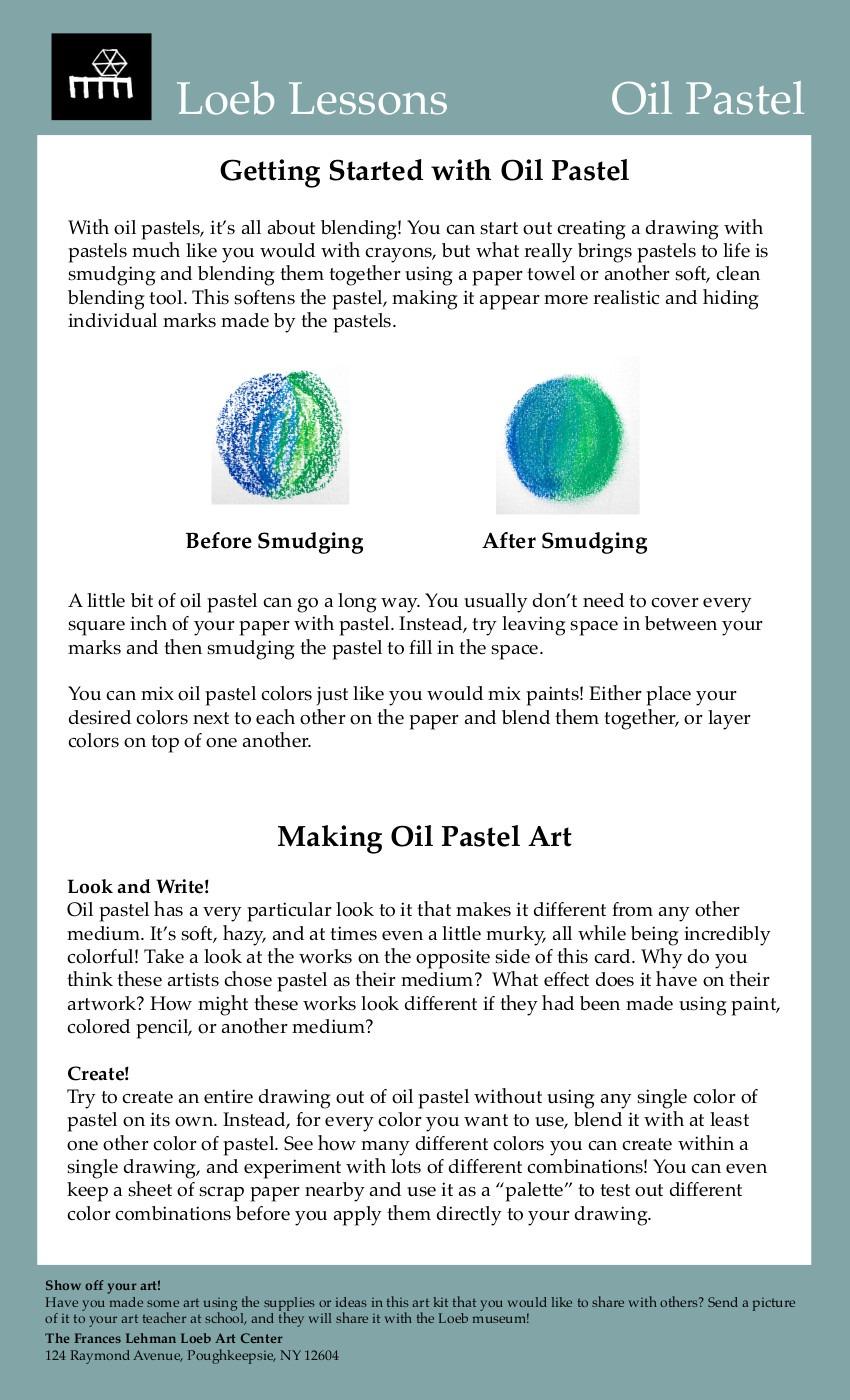 Oil Pastel Activity Card