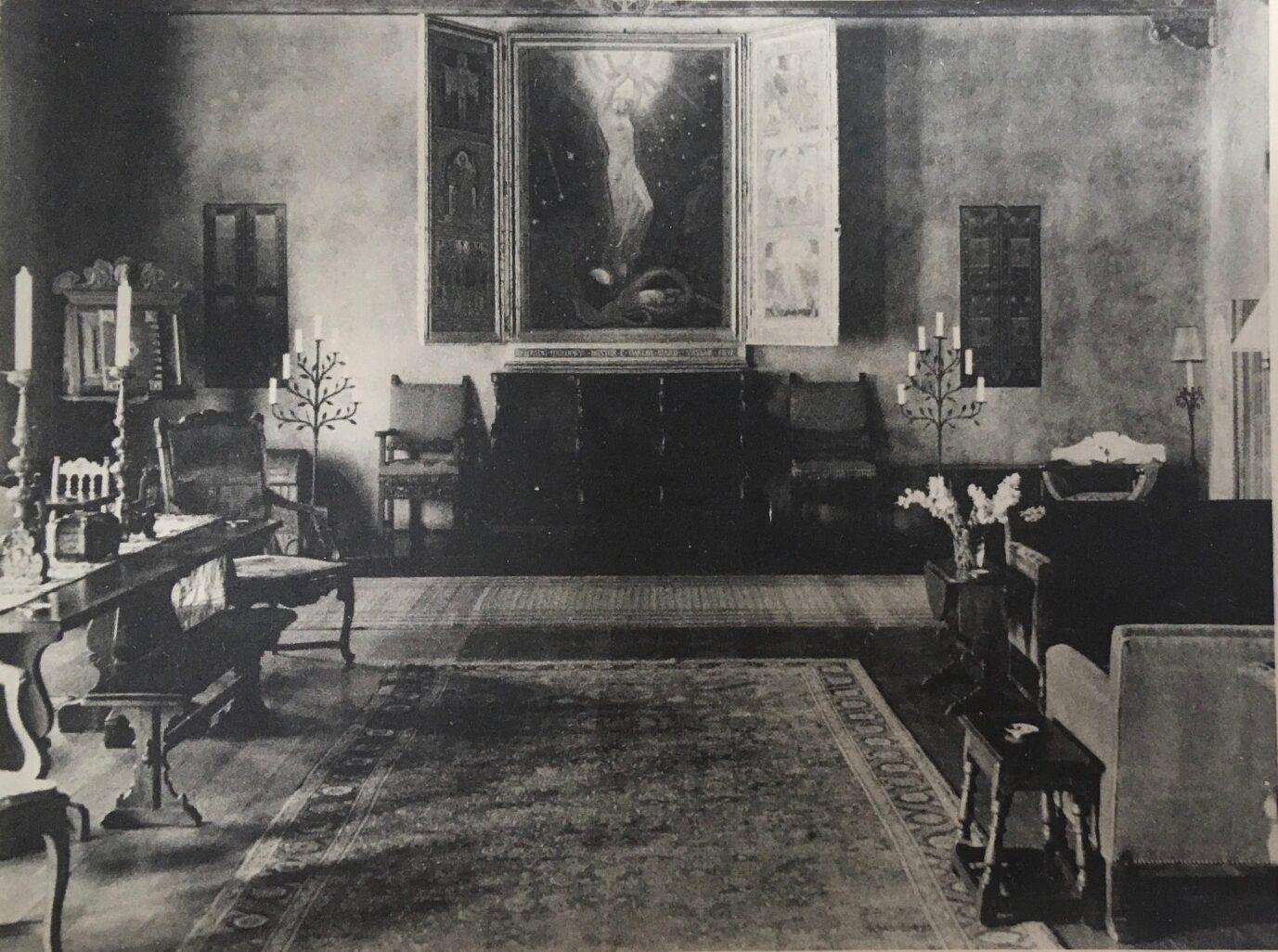 Living Room, Alumnae House, Vassar College, 1924