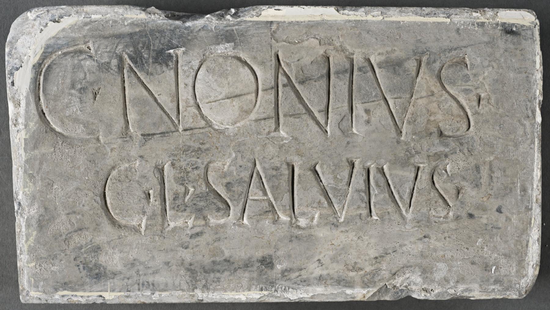 Columbarium plaque for the freedman Gaius Nonius Salvius
