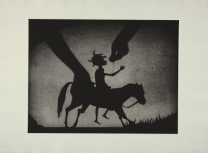 Testimony #2 (Figure on Horse with Hands Controlling the Puppet)