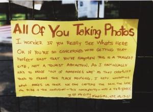 Handwritten sign from Firegirl
