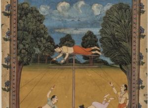 Desakh Ragini, Female Acrobats, from a Ragamala series