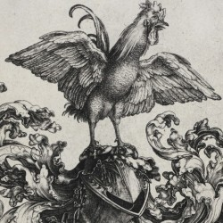 Coat of Arms with Lion and Rooster