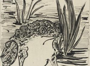 Le Crapaud (The toad) from Eaux-fortes originales pour des textes de Buffon (Histoire Naturelle) [Original etchings for the texts by Georges-Louis Leclerc, comte de Buffon (Natural History)],