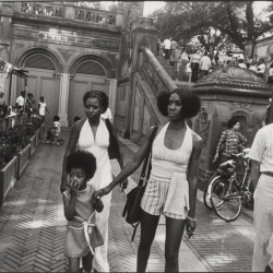 Two Black Women and Child in Central Park, New York
