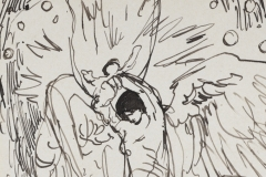 Study for The Great Wonder: Sketch for central panel