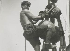 Man on a Hoist Ball, Empire State Building