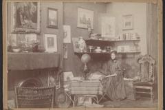 Violet Oakley in her Studio at 1523 Chestnut St., Philadelphia, before 1898